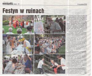 "Gazeta Kościańska 14.09.2016 "" Festyn w ruinach"""